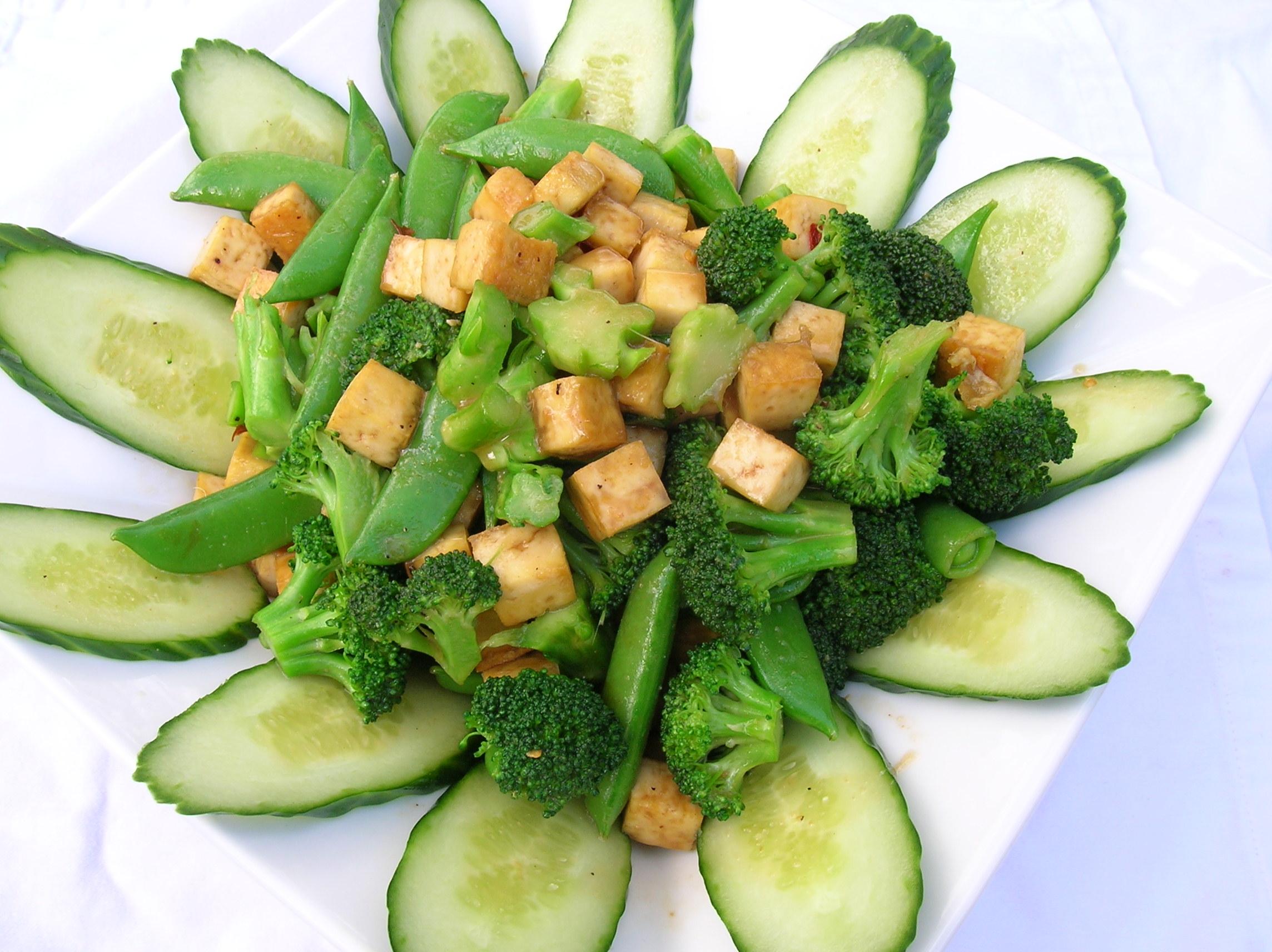 Tofu Vegetable Salad   Vegetarian Perspective