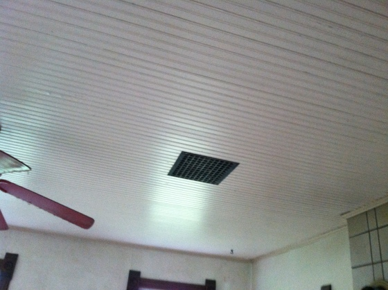 Heat Vents and Beadboard Ceiling