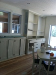 Old cabinets nearly completed