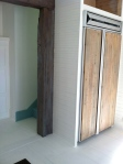 Barn wood panels for fridge